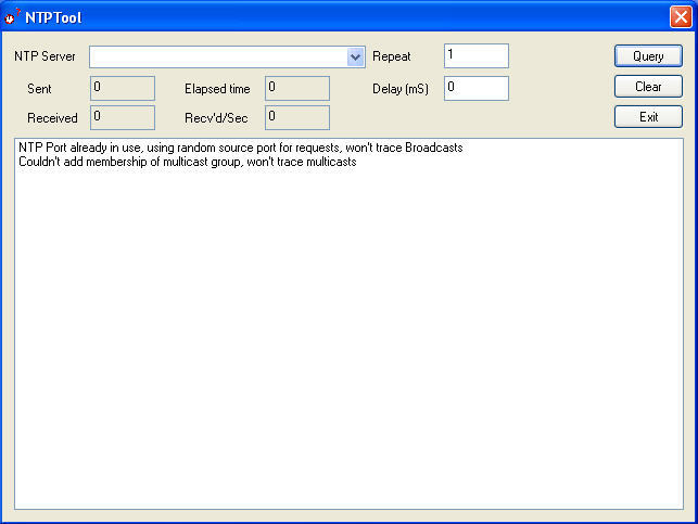 NTP Tool Download - Test tool that acts as a client to a NTP