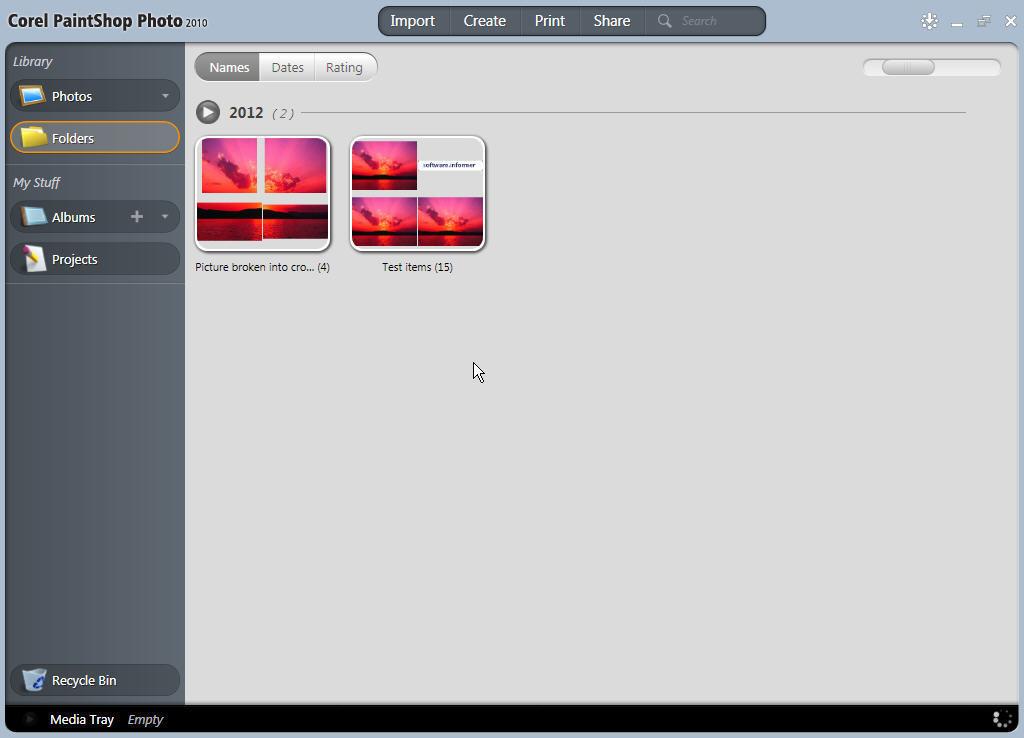 Corel PaintShop Photo main window