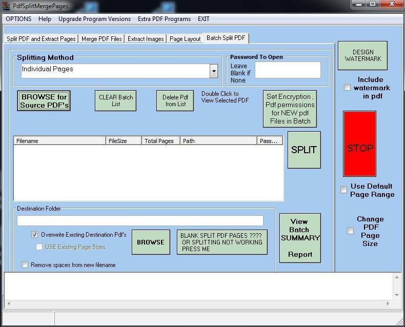 Batch split PDFs