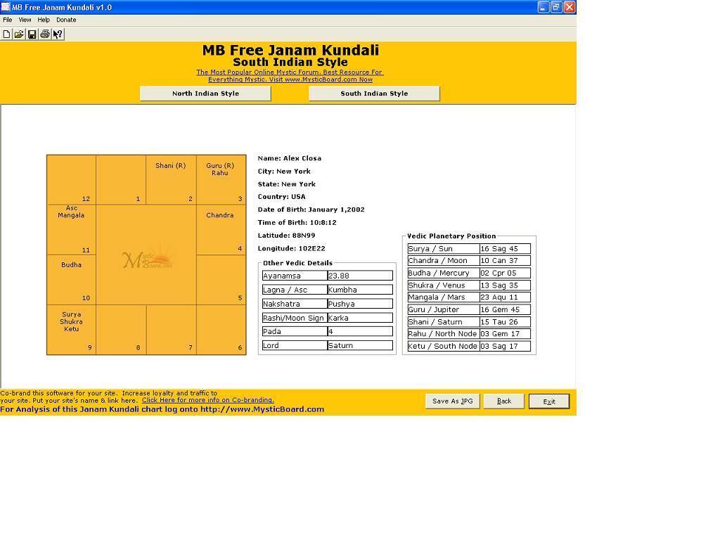 MB Free Janam Kundali Download   This is an advanced Vedic birth ...