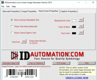 IDAutomation com Barcode Image Generator Download - Create