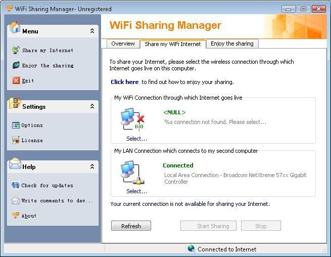 Share my WiFi Internet