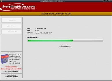 MDE Unlocker Download - MDE Unlocker for Microsoft Access is