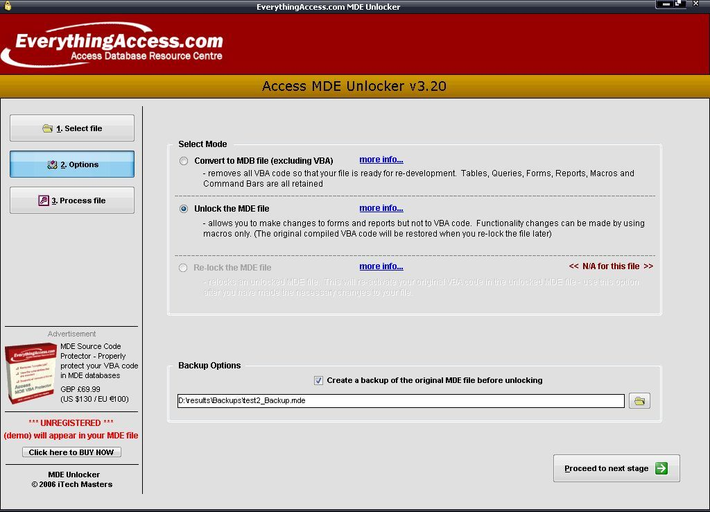 MDE Unlocker for Microsoft® Access  Get the software safe and easy