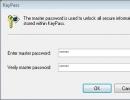 Creating Master Password