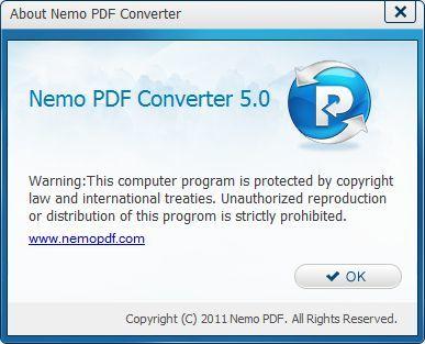 About Nemo PDF Converter