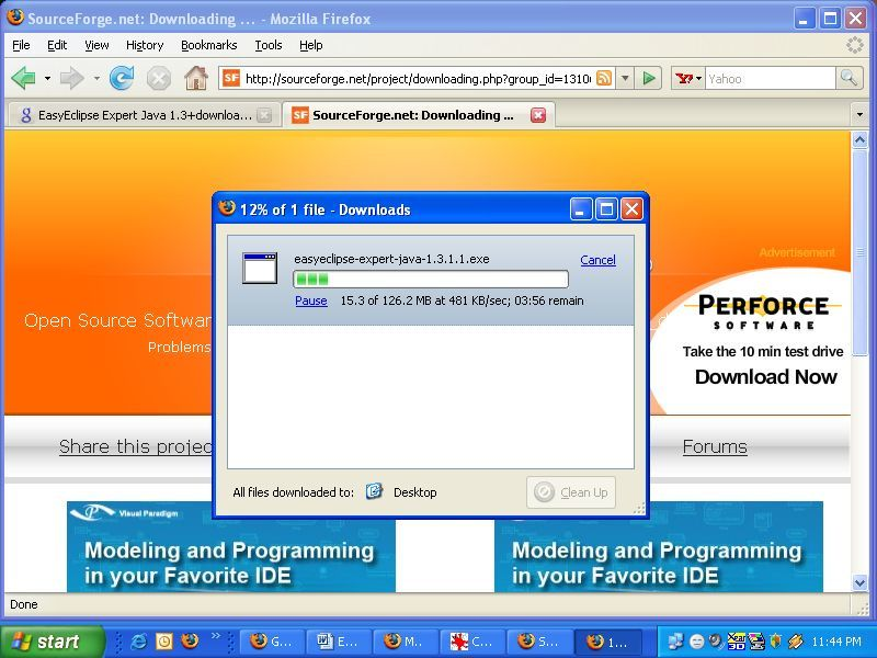 Downloading EasyEclipse Expert Java 1.3