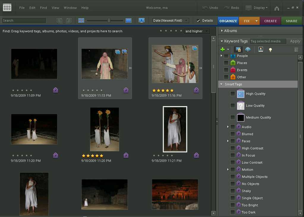 Organizing my photo album