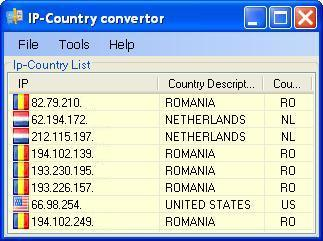 IP-Country convertor