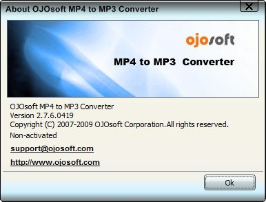 OJOsoft MP4 to MP3 Converter 2 0 Download - MP4toMP3Converter exe