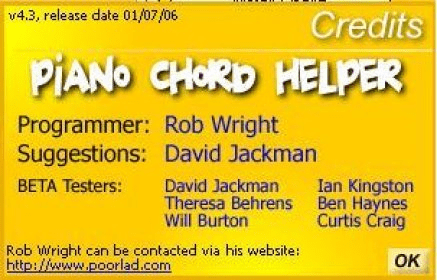 Piano Chord Helper 43 Download Free Piano Chord Helperexe