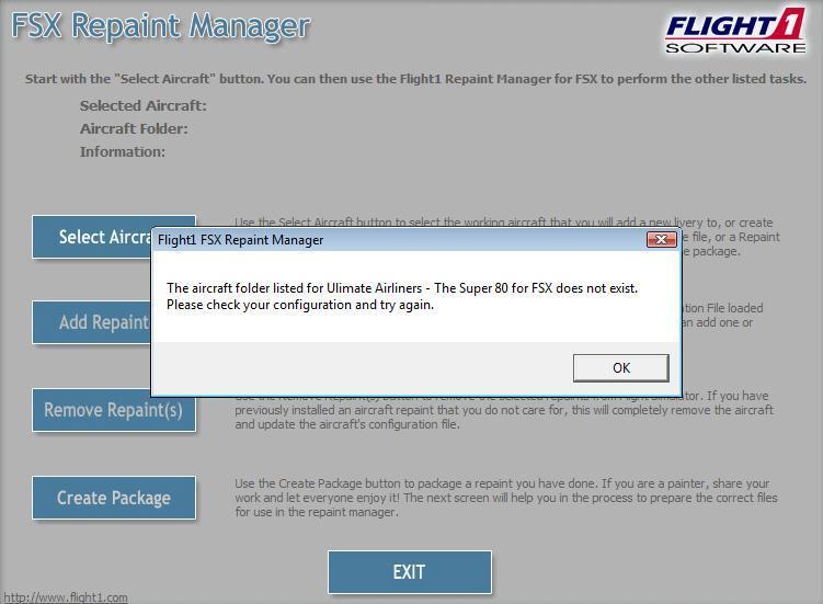 FSX Repaint Manager Screenshot