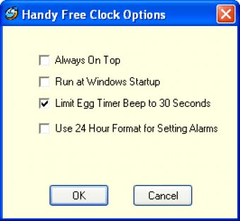 Handy Free Clock Download - It shows date and time, works as