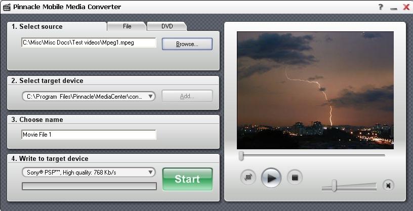 Convert for Sony PSP