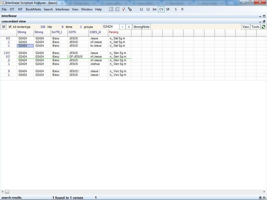 Interlinear Scripture Analyzer basic 2 0 Download (Free) - ISA exe