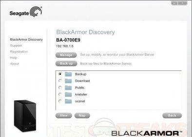 blackarmor discovery software