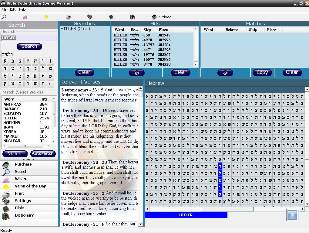 Bible Code Oracle  Get the software safe and easy