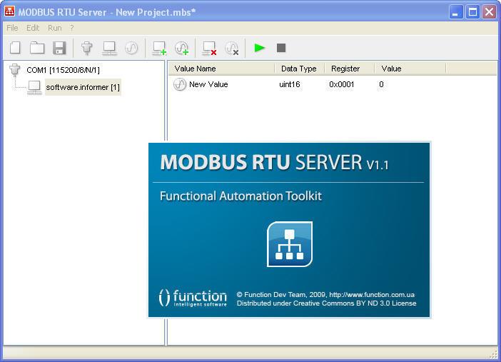 Modbus RTU Server 1 1 Download (Free) - mbsrv exe