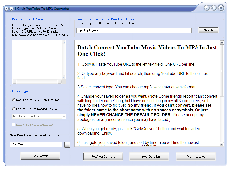 1-Click YouTube To MP3 Converter Download - Video downloader and