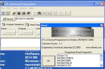 ETL Universal Programmer Download - The ETLUNIPROG user