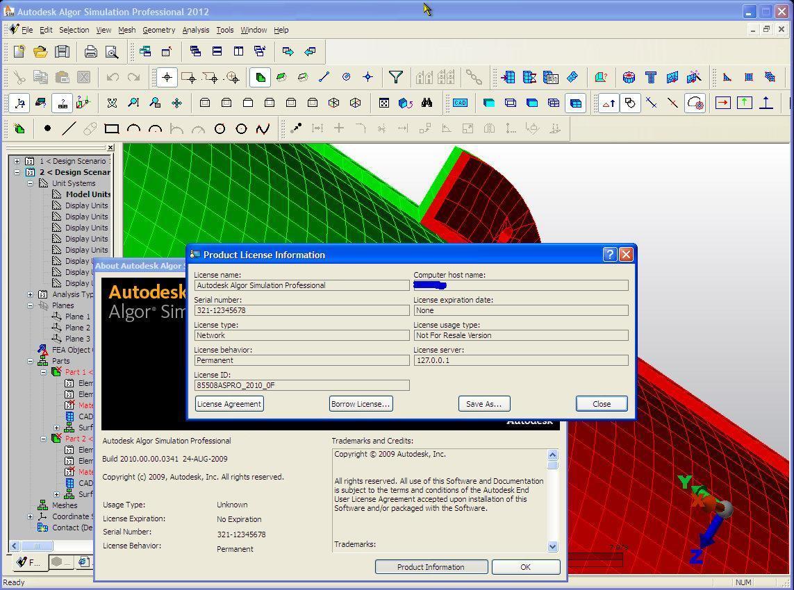 Autodesk Algor Simulation Professional 2011 For Sale