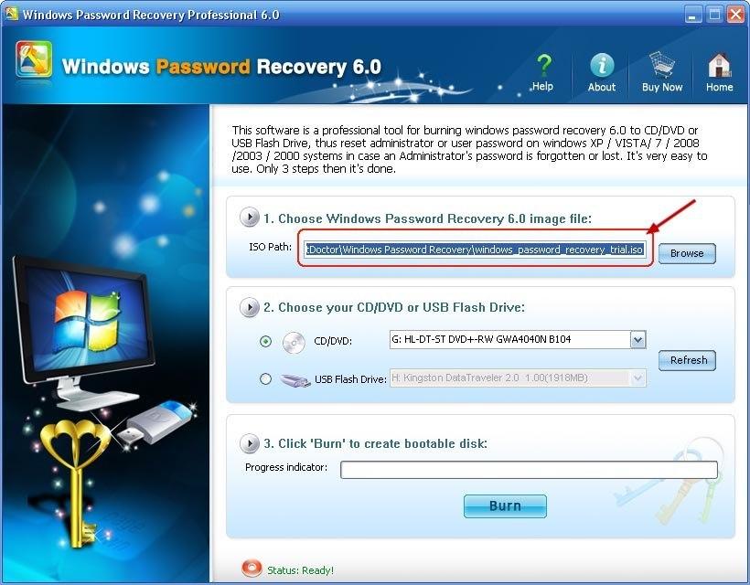 Windows Password Recovery 6.0