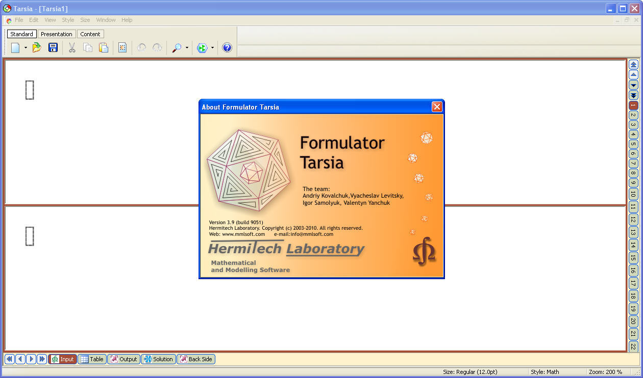 formulator tarsia 3.8
