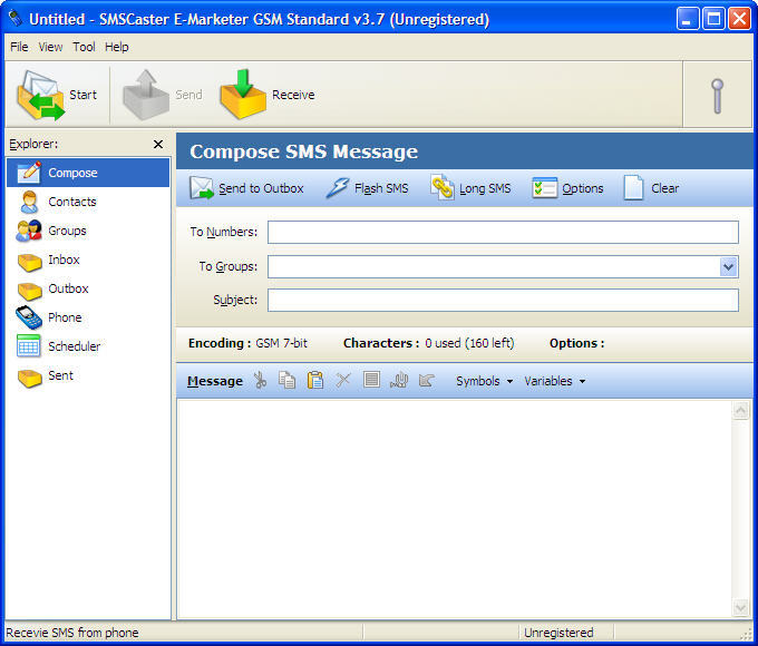 SMSCaster E-Marketer GSM Standard  Get the software safe and easy