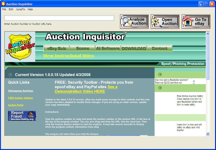 Auction Inquisitor 1 0 Download Free Auction Inquisitor Exe
