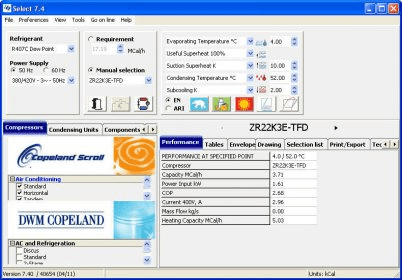 Copeland Selection Software 7 4 Download (Free) - Etk exe