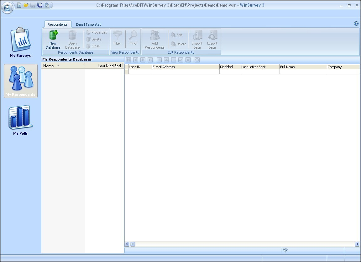 Respondents Database Manager