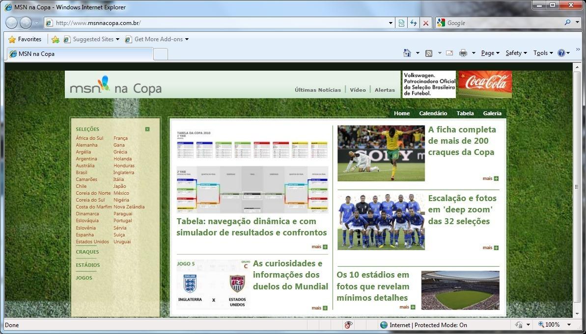 Fifa Worldcup 2010 Website in Silverlight