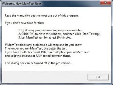 Memtest 4 0 Download (Free trial) - memTest exe