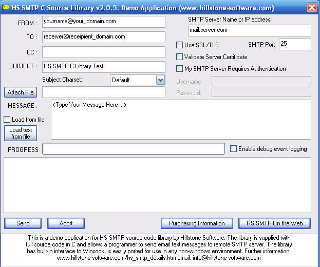 HS SMTP (Demo Application)  Get the software safe and easy