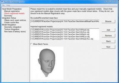 FaceGen Customizer 1 1 Download (Free trial) - Customizer exe