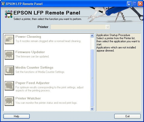 EPSON LFP Remote Panel - Software Informer  It allows you to