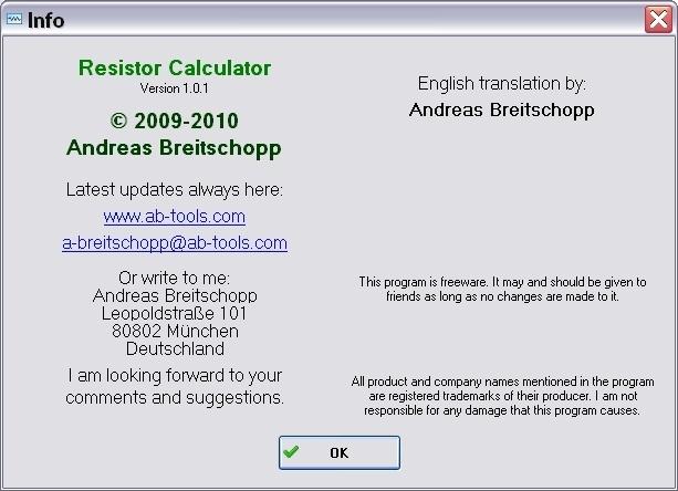About Resistor Calculator