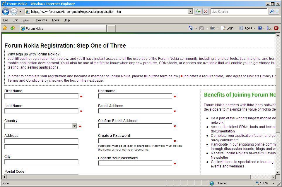 Register if not an user