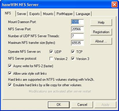 haneWIN NFS Server 1 1 Download (Free) - nfsd exe
