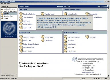 LeadTrack software and downloads (InfoTrack exe)