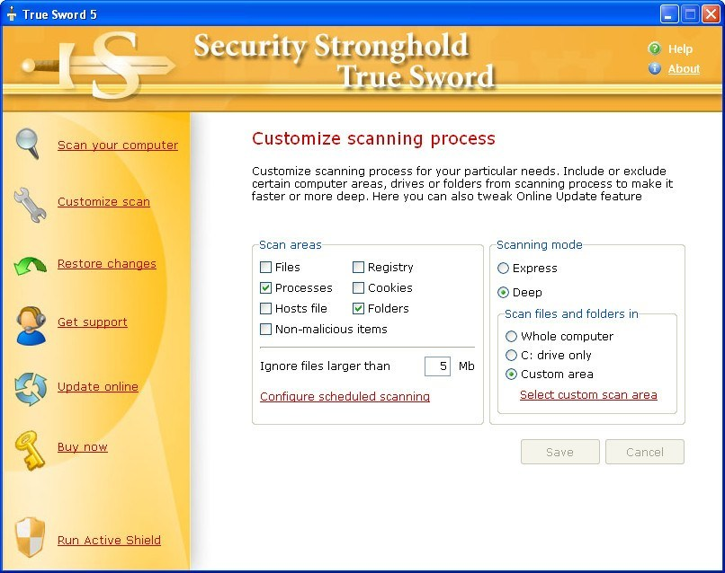 Customizing Scan Settings