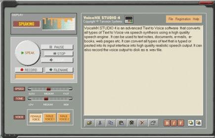 VoiceMX STUDIO Download - Popular Text To Speech Voice Synthesizer