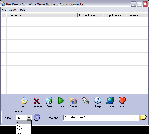 Output formats