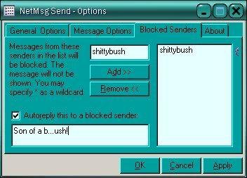 Blocked senders