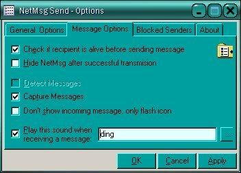 Message Options ;-)