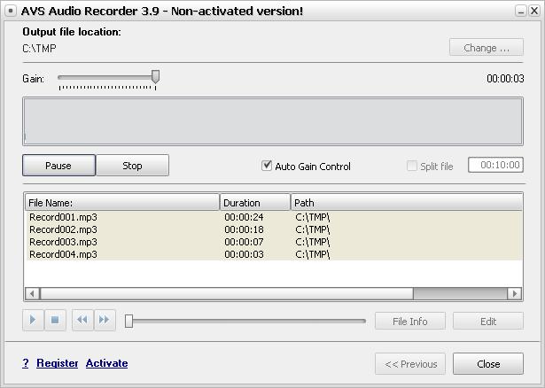 Recording Process