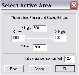 Select active area