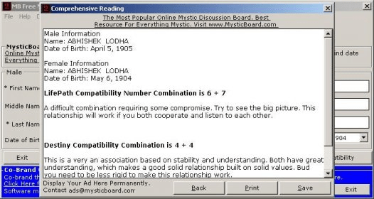 MB Free Numerology Compatibility - Software Informer  This is a