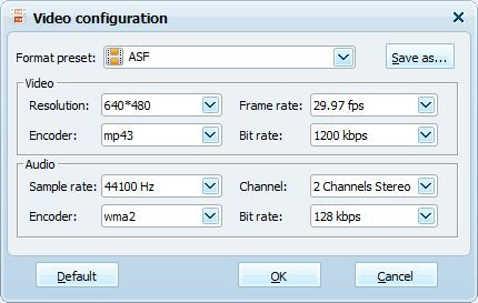Video configuration