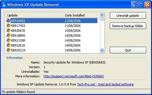 Windows XP Update Remover Download (wuremove exe)